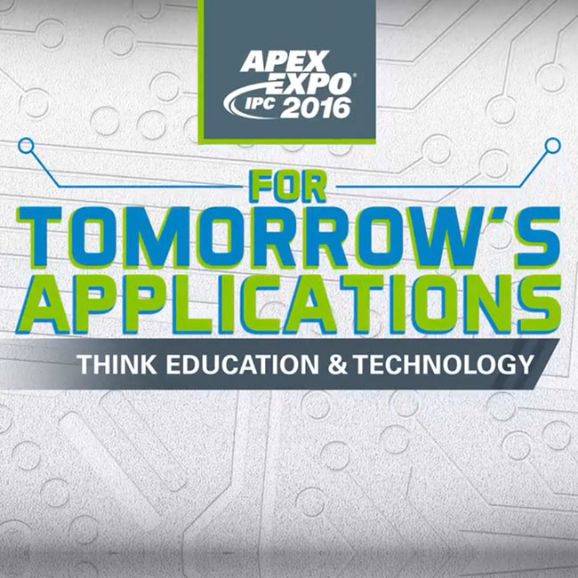 For Tomorrow's Applications Think Education and Technology
